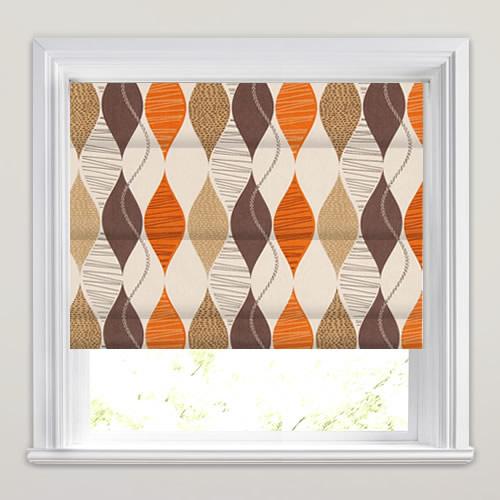 Retro Roman Blinds Brown Beige Amp Orange Contemporary