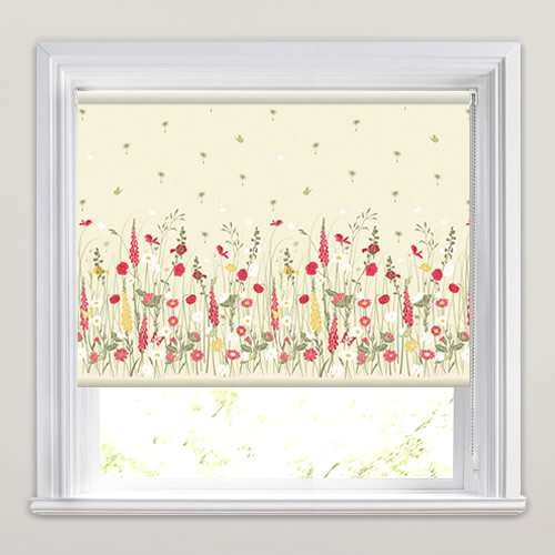 Kitchen Roller Blinds Country Garden Wild Meadow Patterned