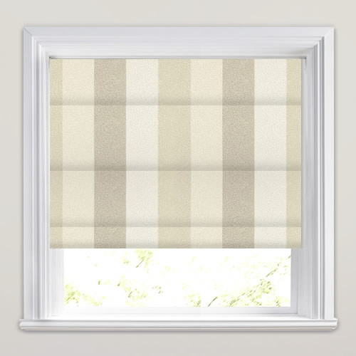 Nickel Oyster Roman Blind