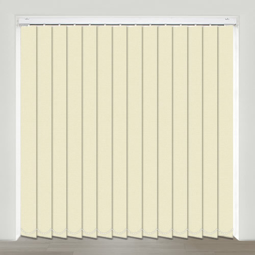 Mono FR Cream Vertical Blind
