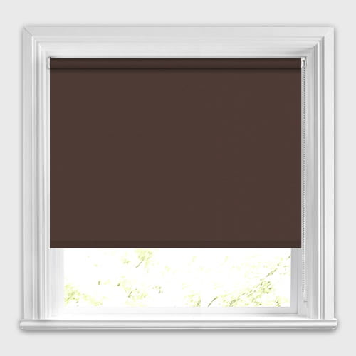Dark Chocolate Brown Blackout Roller Blinds Energy Efficient