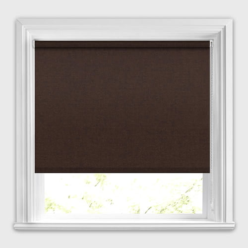 Dark Chocolate Brown Roller Blinds Made To Measure