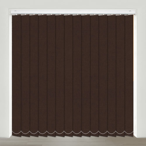 Gala Chocolate Vertical Blinds Made To Measure English