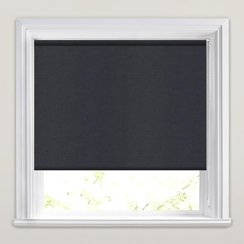 Dark Grey Blackout Roller Blinds Luxury Made To Measure