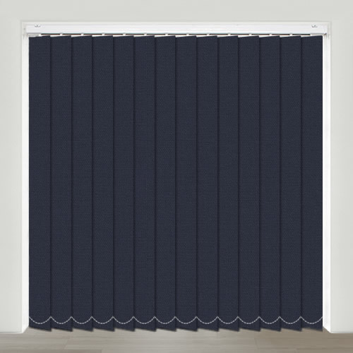 Mono FR Navy Vertical Blind