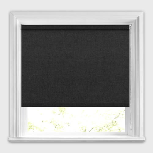 High Quality Pure Black Roller Blinds Made To Measure