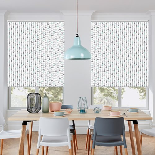 Scandi Triangles Patterned Blackout Roller Blinds