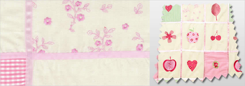 Baby Patchwork Petal Curtains