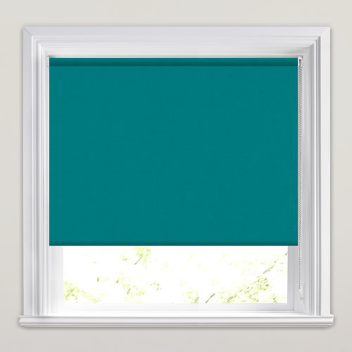Teal Blackout Roller Blinds Made To Measure Energy Efficient