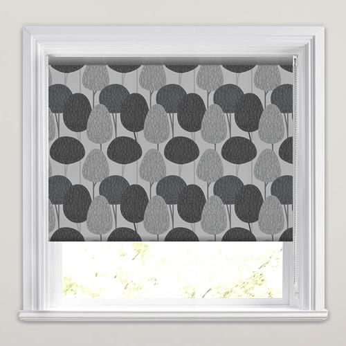 light dark grey taupe fairy tale forest patterned. Black Bedroom Furniture Sets. Home Design Ideas