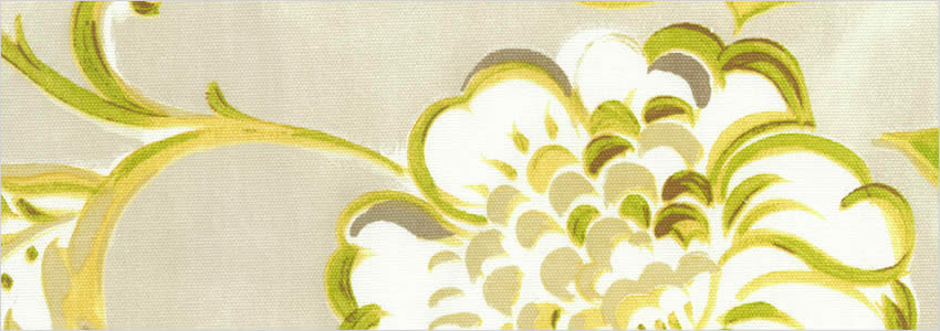 Classical Floral Patterned Lime Green Beige Amp Yellow