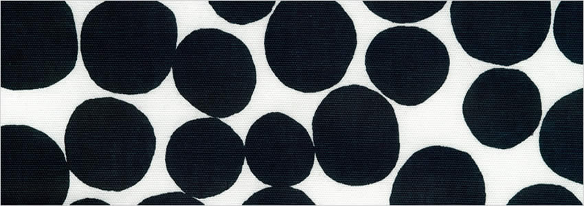 Funky Circle Patterned Black White Contemporary Curtains