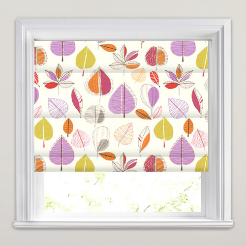 Maple Amethyst Roman Blind