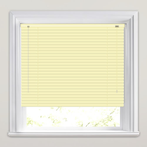 25mm Yellow Striped Venetian Blind