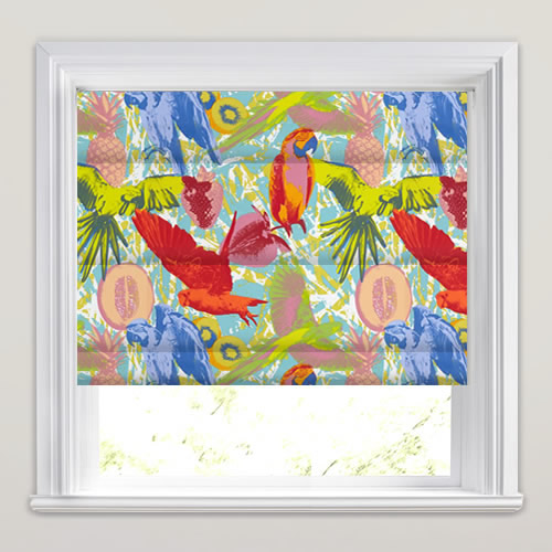 Guadeloupe Tropical Roman Blind