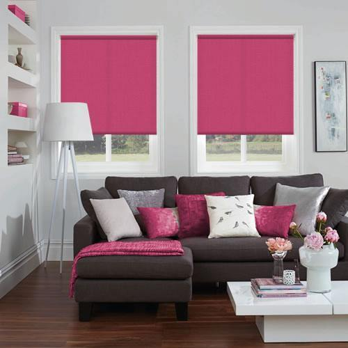 Gala Deep Lipstick Or Hot Pink Roller Blinds Made To Measure