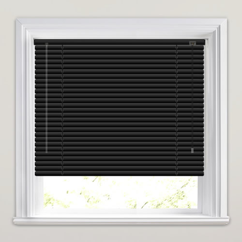 25mm Black Venetian Blind