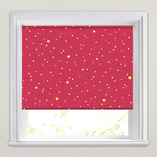 Little Star Cherry Roller Blind
