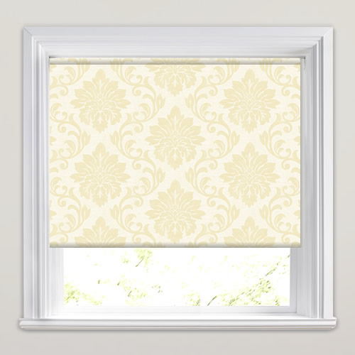 Damask Straw Roller Blind