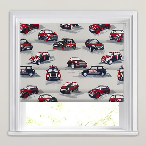 Mini Cooper Rally Roman Blind
