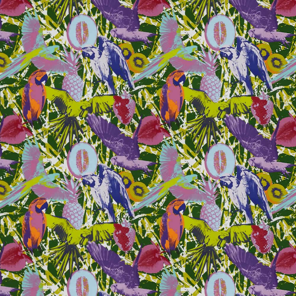 Funky Vibrant Amp Colourful Pop Art Jungle Patterned Roman