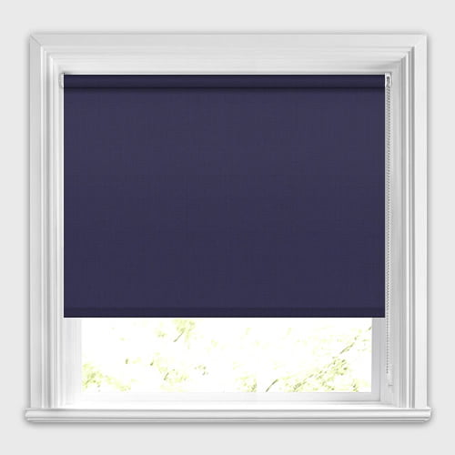 Dark Blue Blackout Roller Blinds Made To Measure