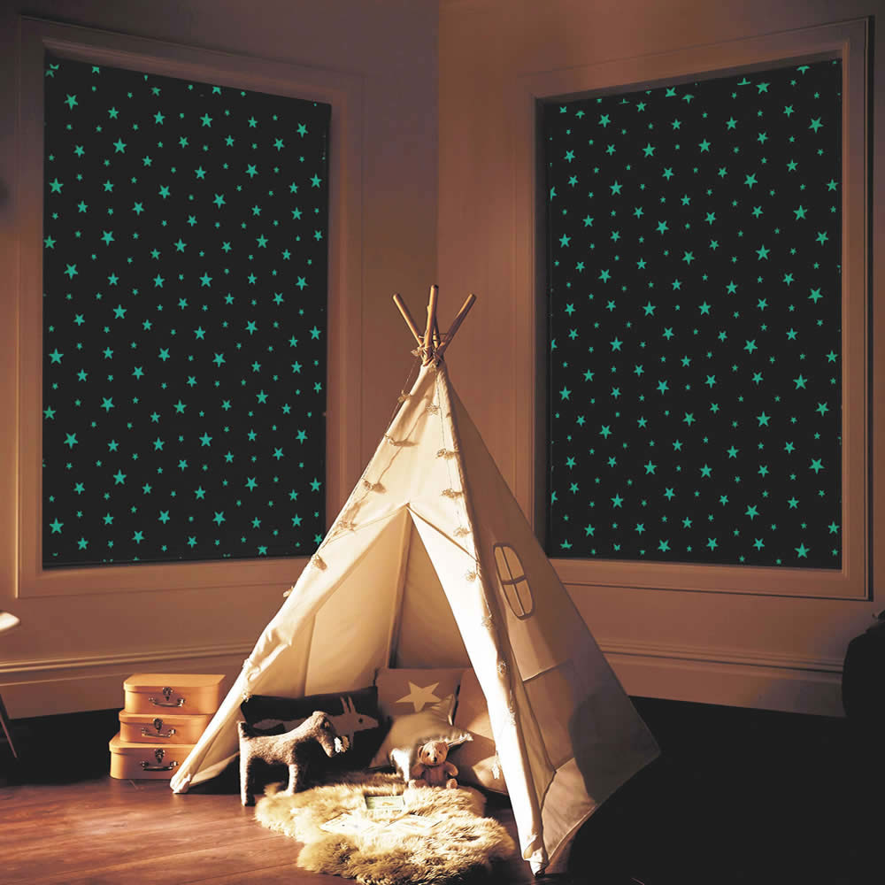 Children S Glow In The Dark Stars Blackout Roller Blinds