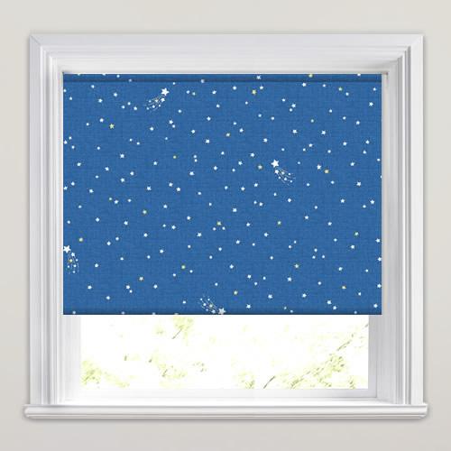 Shooting Stars Patterned Kids Blackout Bedroom Roller Blinds