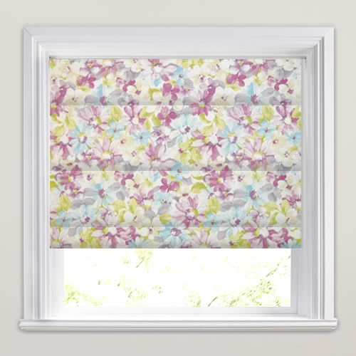 Pot Pourri Lavender Roman Blind