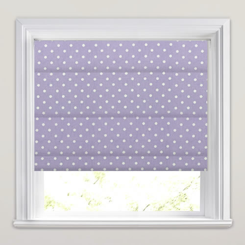 Nancy Lavender Roman Blind