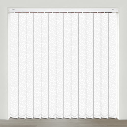 Silhouette White Vertical Blind