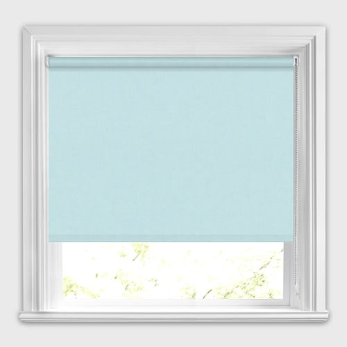 Light Aqua Blue Blackout Roller Blinds Made To Measure