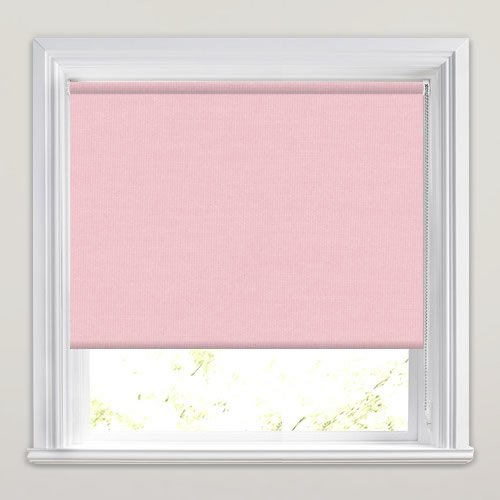 Light Blush Baby Pink Roller Window Blinds Made To Measure