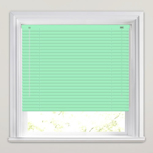 25mm Powder Green Venetian Blind