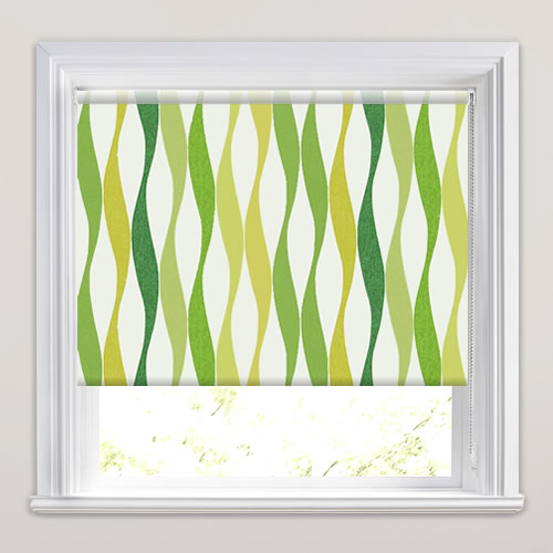 lime green kitchen blinds funky lime olive amp emerald green wavy striped 7091