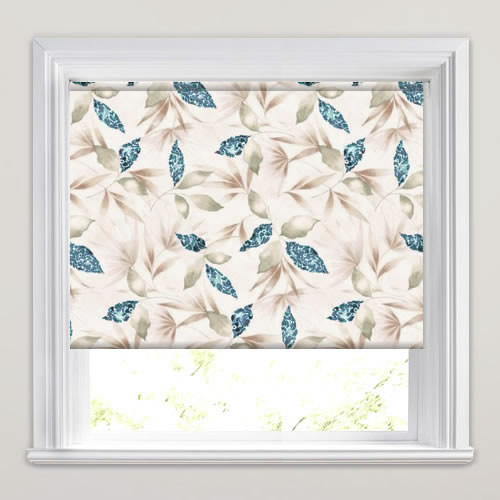 Watercolours Teal Printed Roller Blinds