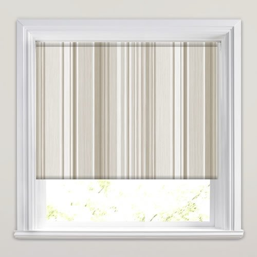 Holiday Stripe Clotted Cream Roller Blind