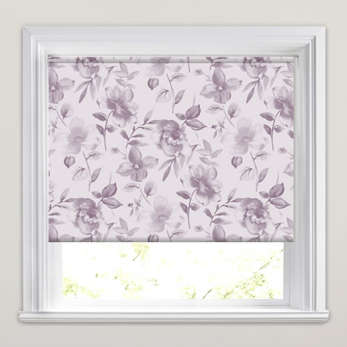 Loja Soft Lilac Patterned Roller Blinds