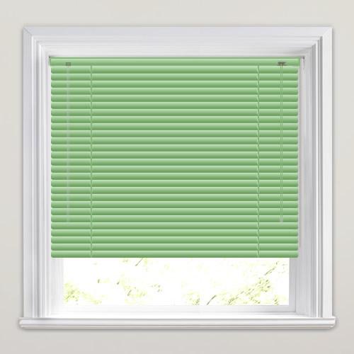 "Aluminium Venetian Blinds 25mm 1/"" slat made to measure GREEN choice of colour"