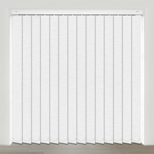 Bianco Frost Vertical Blind