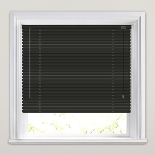 25mm Matt Black Venetian Blind