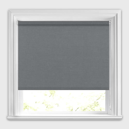 Charcoal Or Gunmetal Grey Blackout Roller Blinds Made To