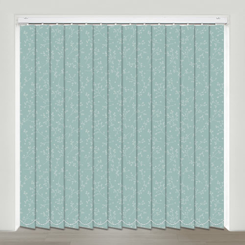 Kina Duck Egg Vertical Blinds Made To Measure English