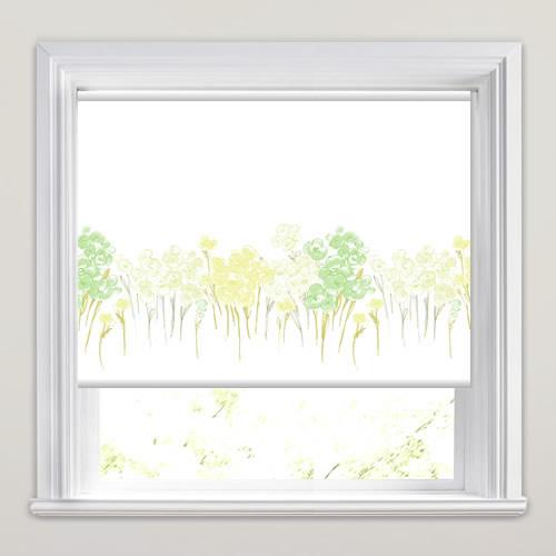 Poppy Garden Mint Patterned Roller Blinds