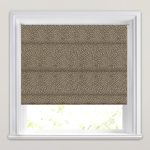 Mocha Amp Brown Contemporary Embossed Textured Roman Blinds