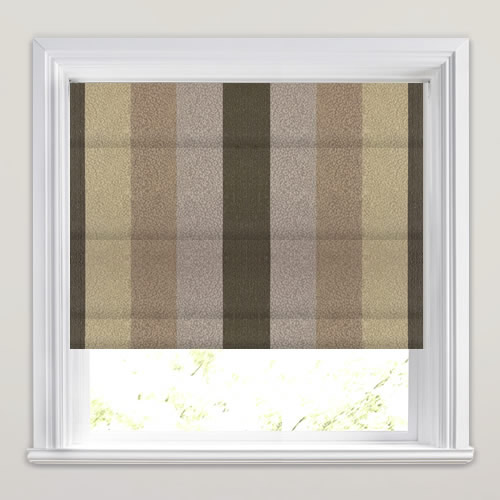 Nickel Mocha Roman Blind