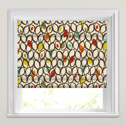 Stylish Multi Coloured Contemporary Patterned Roman Blinds