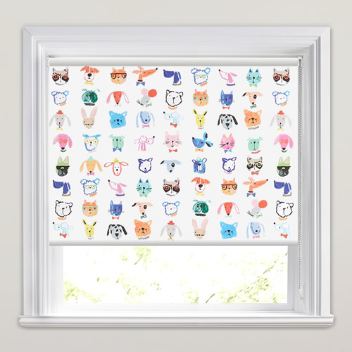Furry Friends Boogie Roller Blinds Made To Measure