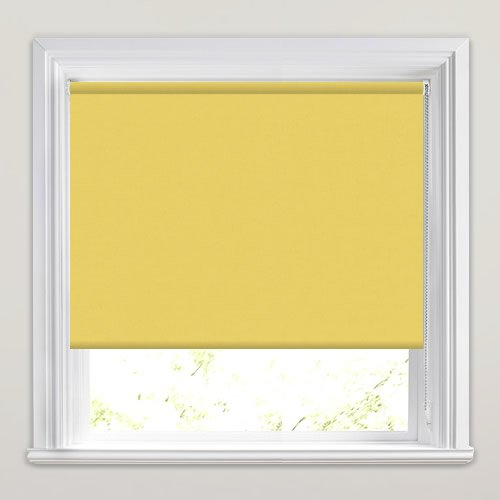 Mustard Yellow Blackout Roller Blinds Made To Measure