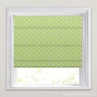 Funky Patterned Roman Blinds Vibrant Contemporary Green